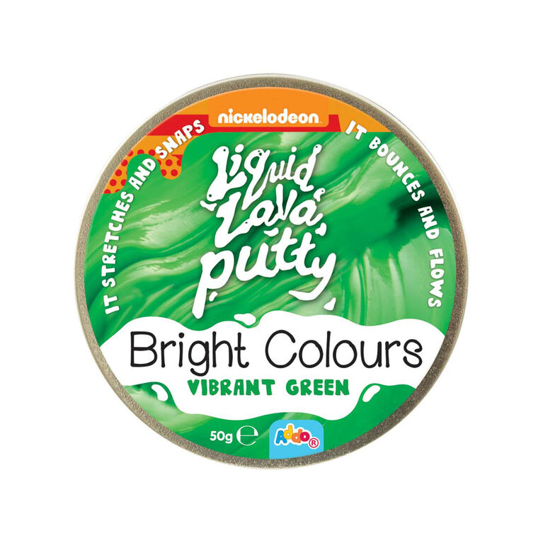Nickelodeon Liquid Lava Putty Bright Colours Vibrant Green - Notre exclusivité