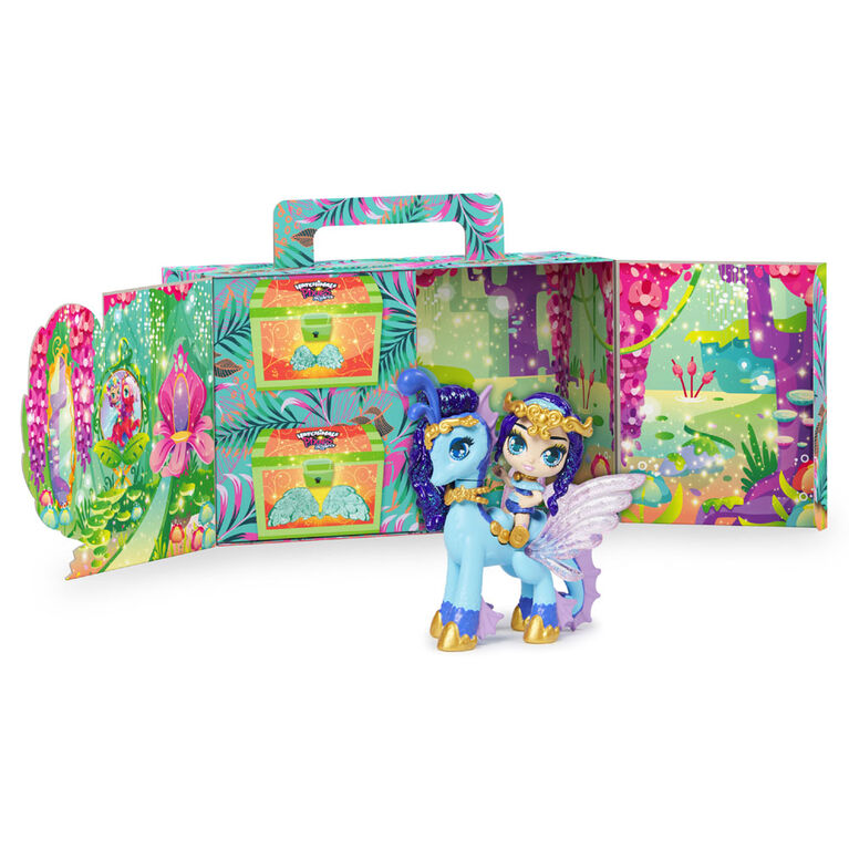 Hatchimals Pixies Riders, Lagoon Lily Pixie and Seastallion Glider Hatchimal Set with Mystery Feature