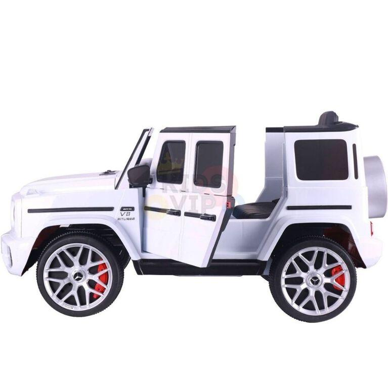 KidsVip 12V Enfants et Tout-Petits Mercedes G63 Edition Voiture Eléctrique avec Commande à Distance - Blanc