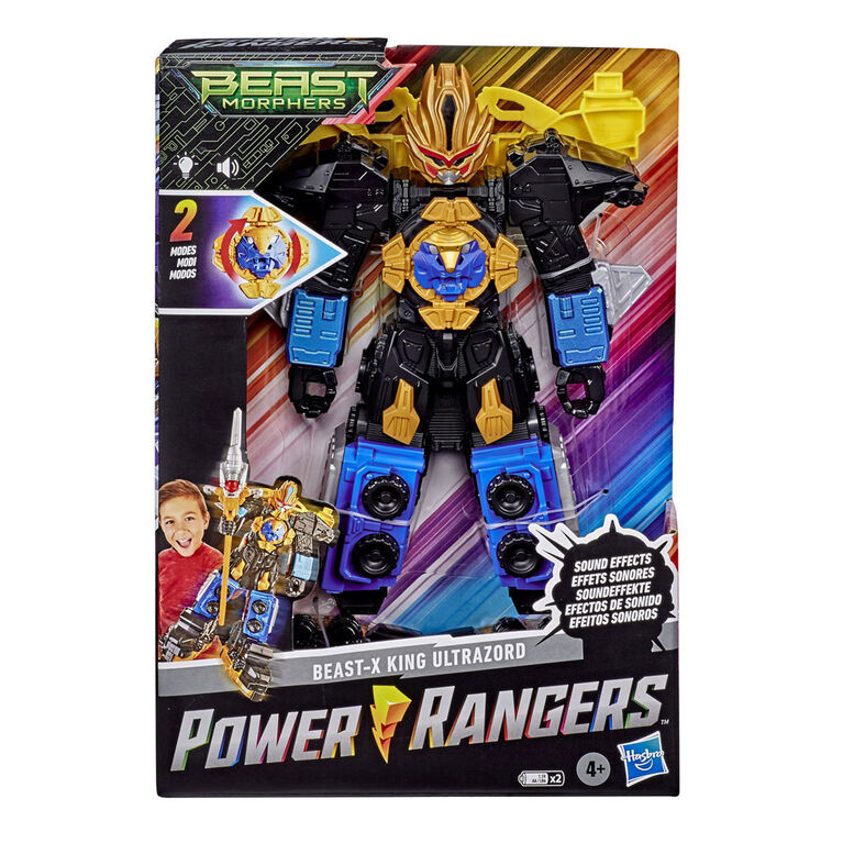 Power Rangers Beast Morphers Beast-X King Ultrazord 12.5-inch Action Figure Toy with Accessory