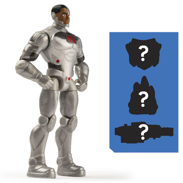DC Comics 4-Inch Cyborg Action Figure with 3 Mystery Accessories, Adventure 2