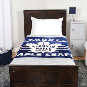 NHL Luxury Velour Blanket - Toronto Maple Leafs