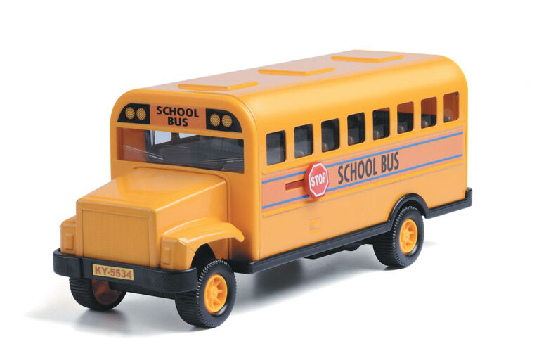 8-Inch Metal School Bus - English Edition