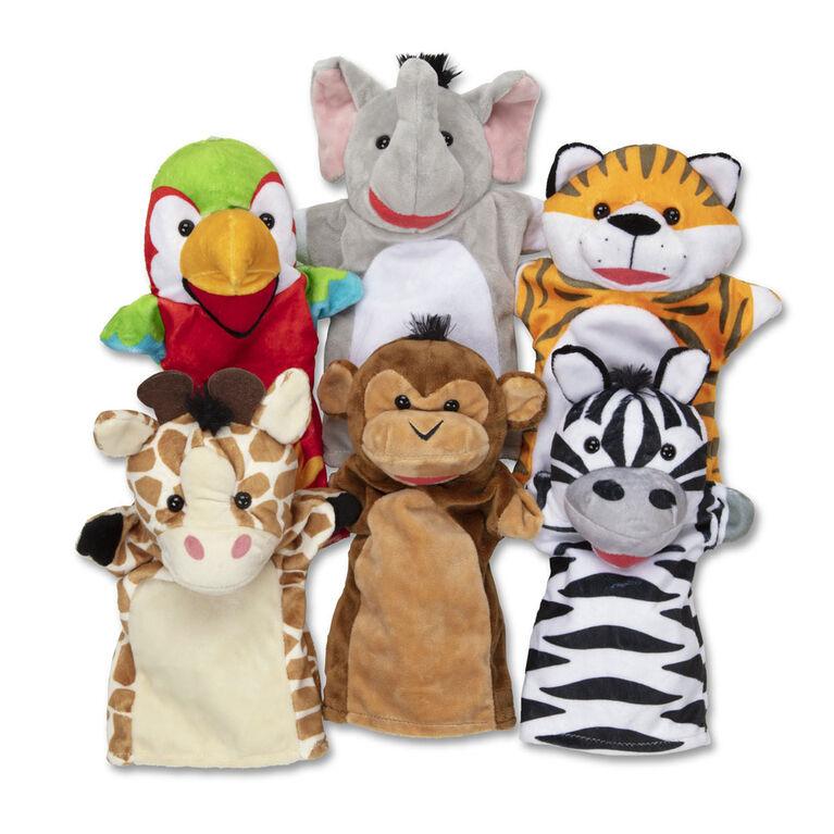 Melissa & Doug Safari Buddies Hand Puppets, Set of 6