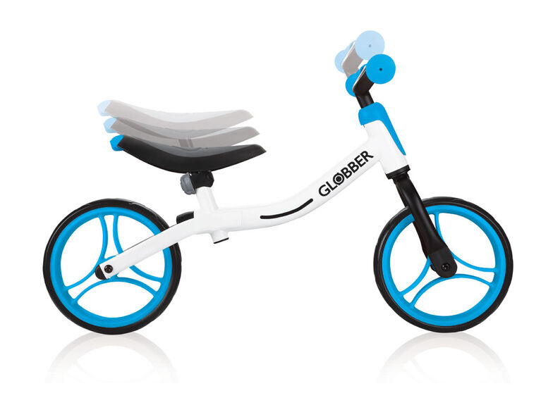 GO Balance Bike - White/Sky Blue