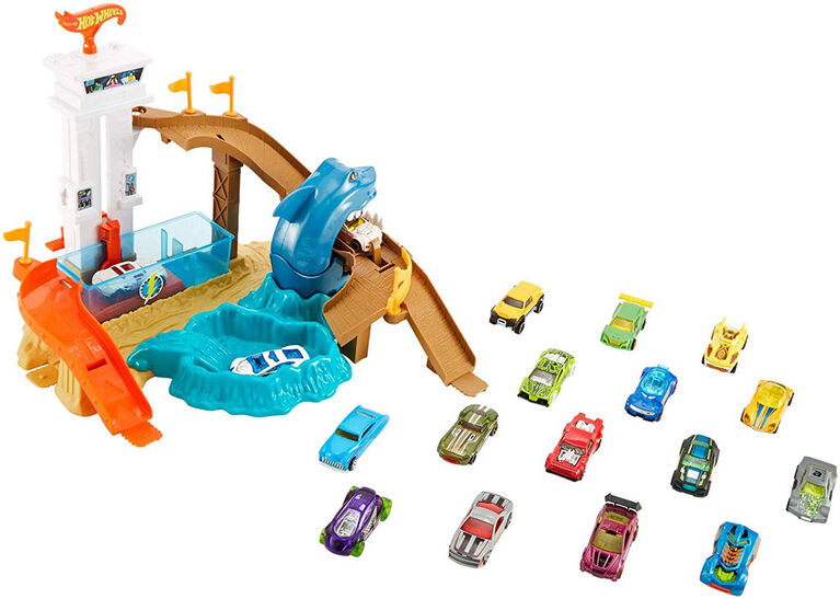 Hot Wheels Color Shifters Sharkport Showdown Playset