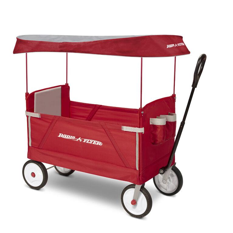 Radio Flyer 3-in-1 EZ Fold Wagon with Canopy