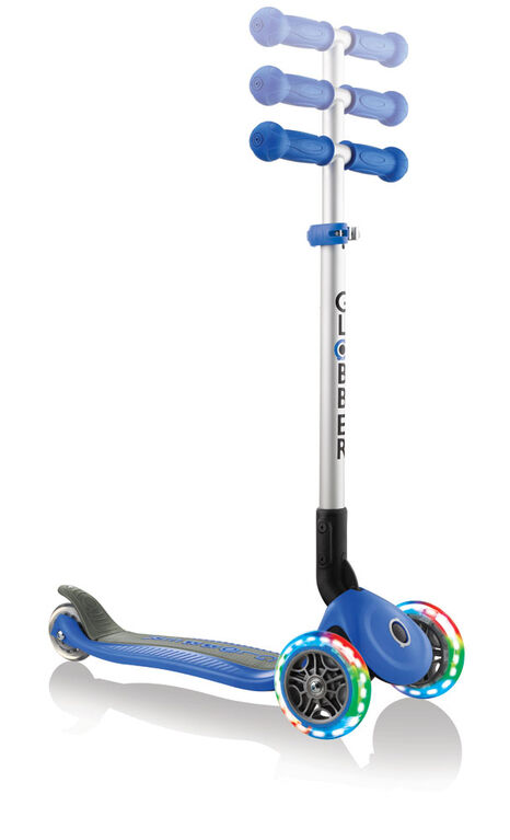 Primo Foldable Light-Up Scooter - Navy Blue