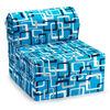Comfy Kids Flip Chair - Blue & White
