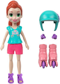 Polly Pocket Active doll - Roller Chic Lila