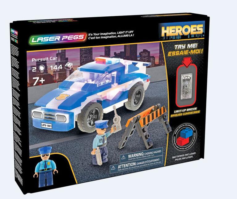 Collection Héros de Laser Pegs - Police Pursuit Car