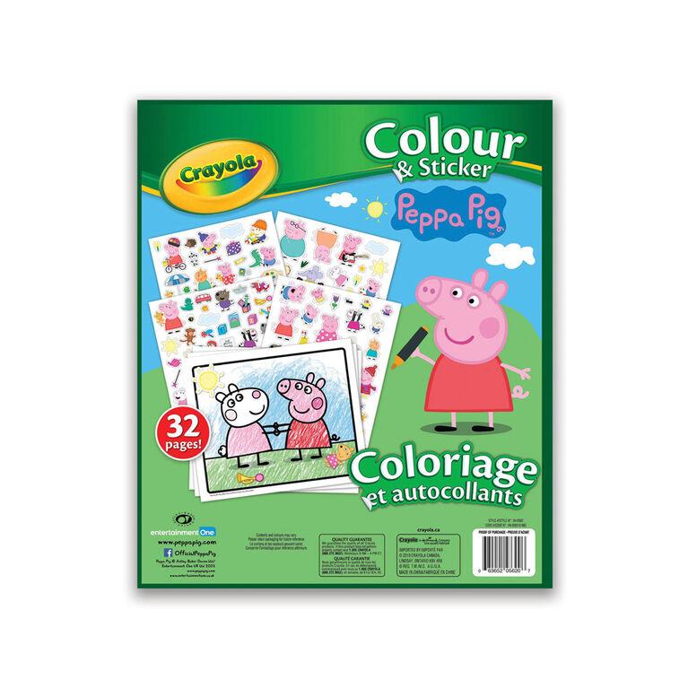 Livre à colorier et autocollants Crayola, Peppa Pig