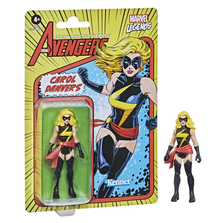 Hasbro Marvel Legends Series, figurine de collection retro Carol Danvers