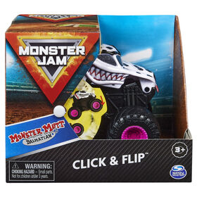 Monster Jam, Official Monster Mutt Dalmatian Click and Flip Monster Truck, 1:43 Scale