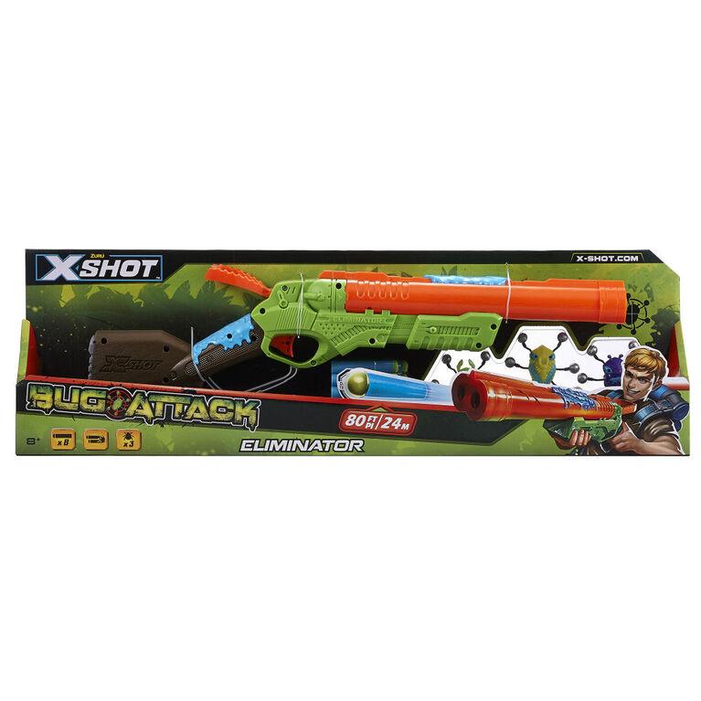 X-Shot Bug Attack Eliminator Foam Dart Blaster and Crawling Bugs (3 Bugs 8 Darts) by ZURU