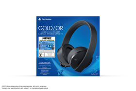 PlayStation 4 Gold Wireless Headset Fortnite Bonus