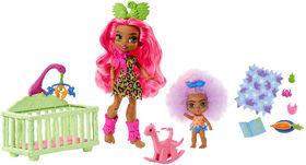 Cave Club Wild About Babysitting Playset & Fernessa & Furrah Dolls