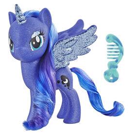 My Little Pony Jouet Princesse Luna - Figurine scintillante de 15 cm.