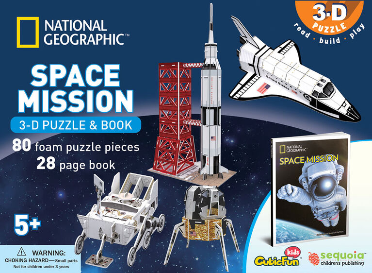 3D Puzzle and Book - National Geographic Space Mission - English Edition