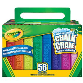 Crayola Washable Sidewalk Chalk, 56 ct