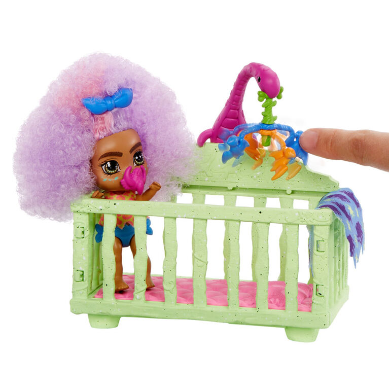Cave Club Wild About Babysitting Playset & Fernessa & Furrah Dolls