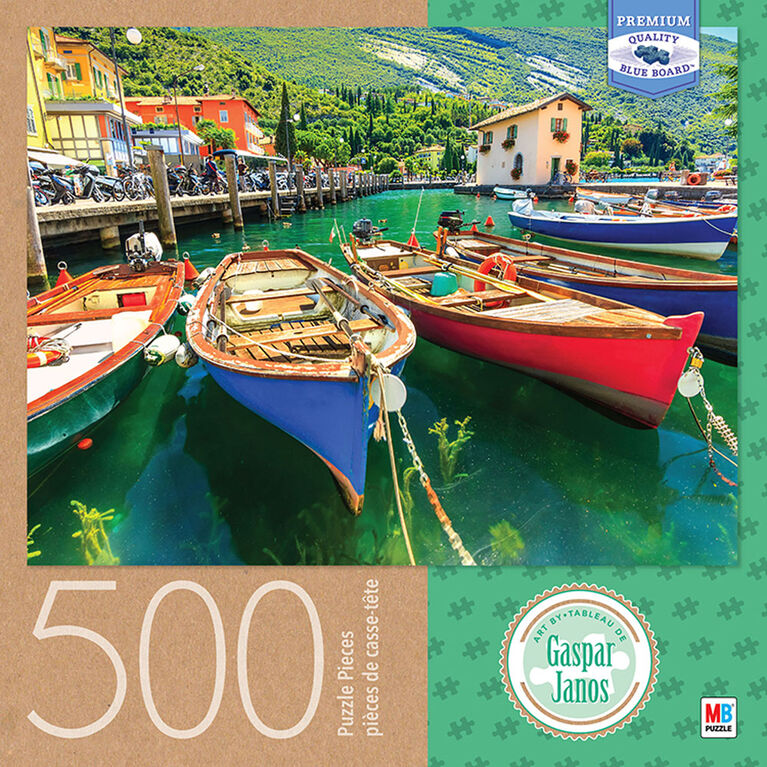 Artist Gaspar Janos - 500 Piece Adult Jigsaw Puzzle - Lake Garda