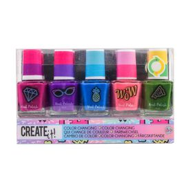 Create It! Nail Polish Color Changing 5-Pack