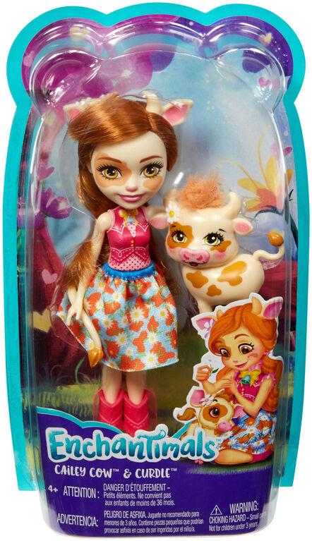 Enchantimals Cailey Cow Doll & Curdle Figure