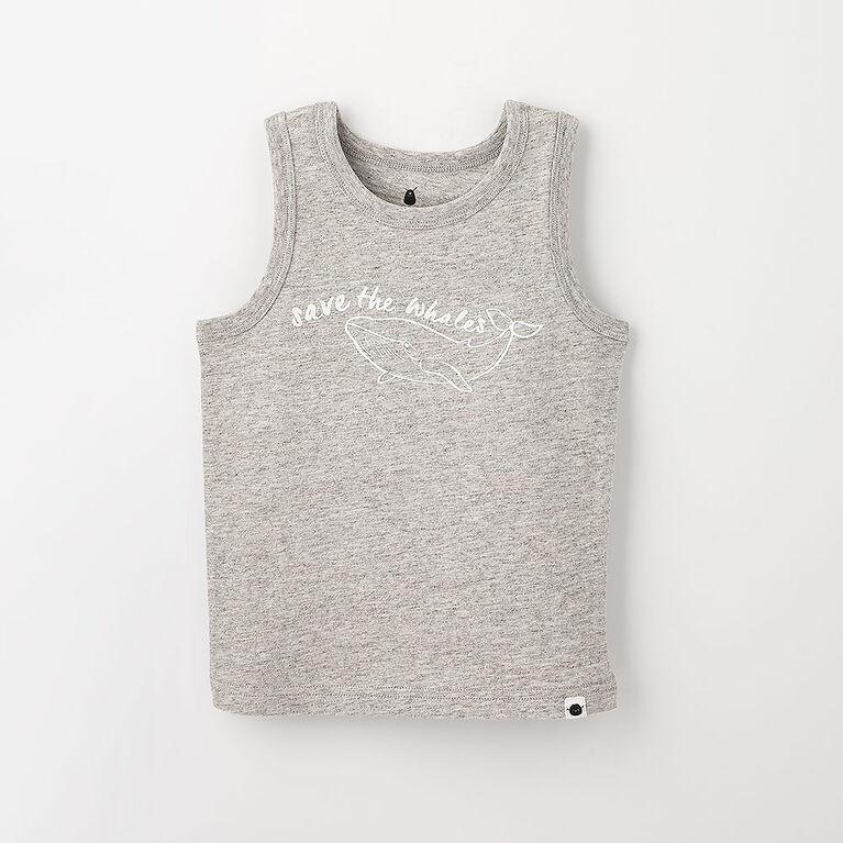 12-18m débardeur imprimé - gris texturé