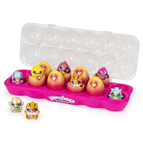 Hatchimals CollEGGtibles, Limmy Edish Glamfetti 12-Pack Egg Carton with 12 Exclusive Hatchimals