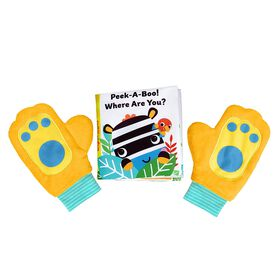 Bright Starts Playful Paws Peek-a-boo Storytime Set