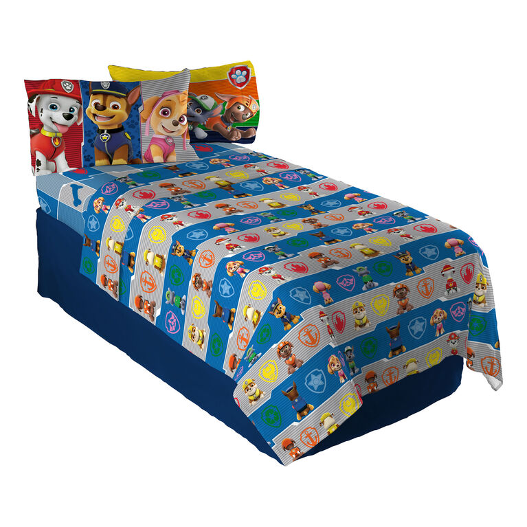 "Paw Patrol ""Gang's all Here"" Twin/Single Sheet Set"