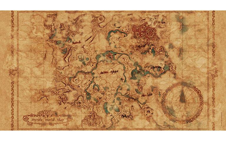 "Zelda: Breath of the Wild ""Hyrule Map"" 750 Piece Puzzle"