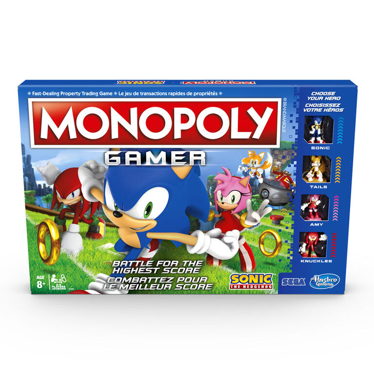 Monopoly Gamer Sonic The Hedgehog Edition Board Game Toys R Us Canada