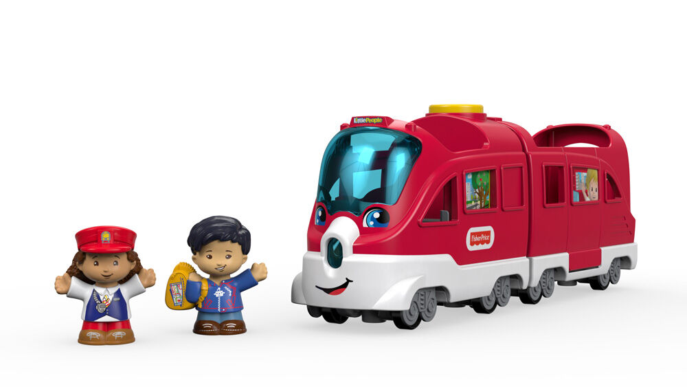 Fisher-Price Little People Friendly Passenger Lights and Sounds Train Toy Set