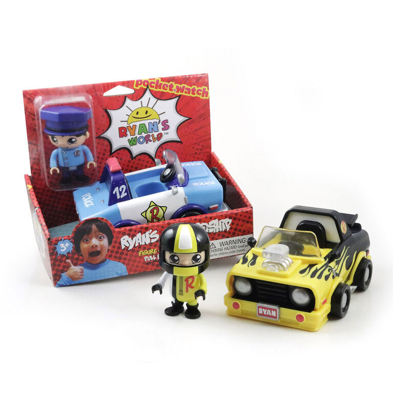 Ryan's World Vehicles with Figure - Colours and styles vary