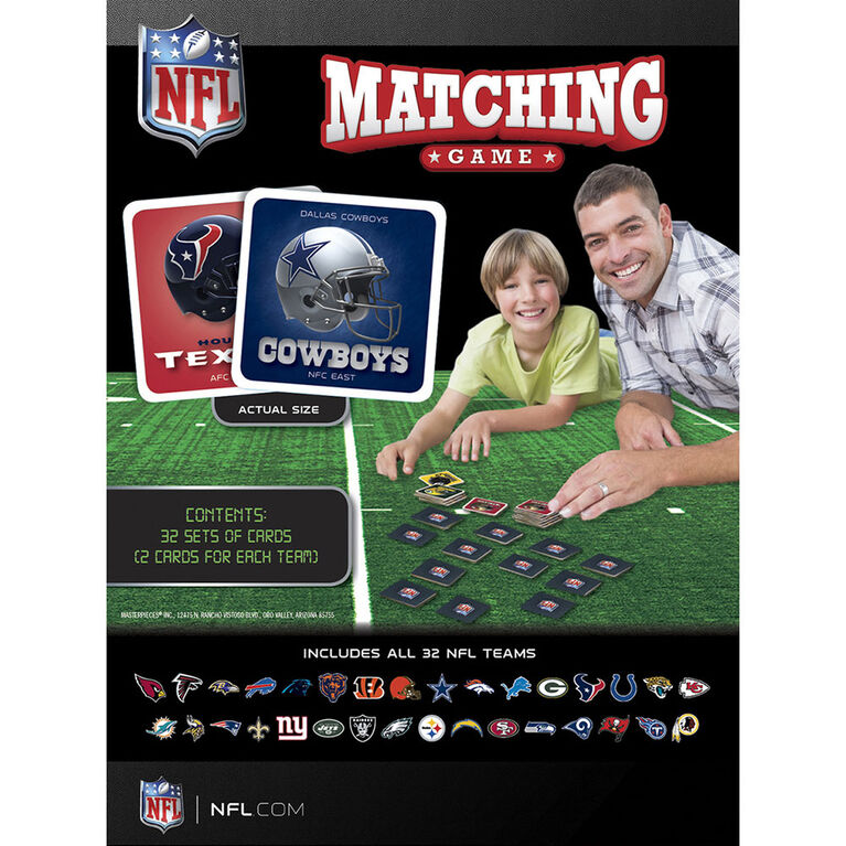 NFL Matching Card Game - Édition anglaise