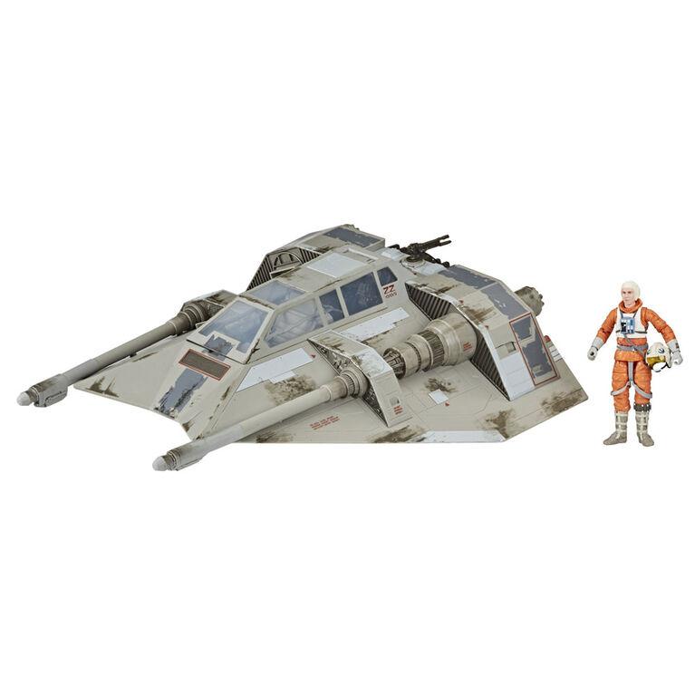 Star Wars The Black Series, jouets de collection véhicule Snowspeeder avec figurine Dak Ralter