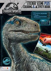 Jurassic World 32 Page Sticker Scene Colouring