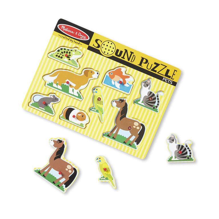 Melissa & Doug Animals Sound Puzzle - Styles May Vary