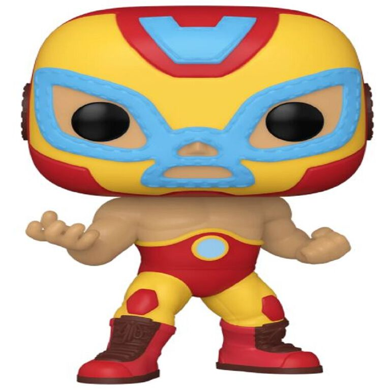 Iron Man El Héroe Invicto Funko Pop! Vinyl Bobble-Head – Marvel Lucha Libre Edition