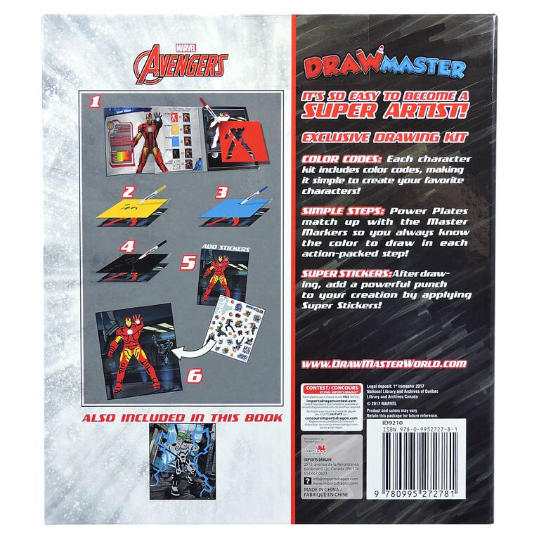 Drawmaster Marvel Avengers Exclusive Drawing Kit - Iron Man & Whiplash