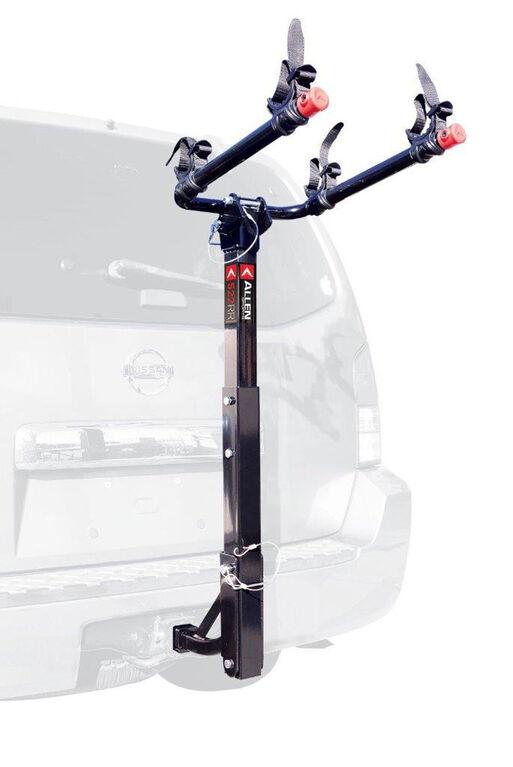 Porte-vélos de luxe d'attelage de 2 po et 1 1/4 po pour 2 vélos