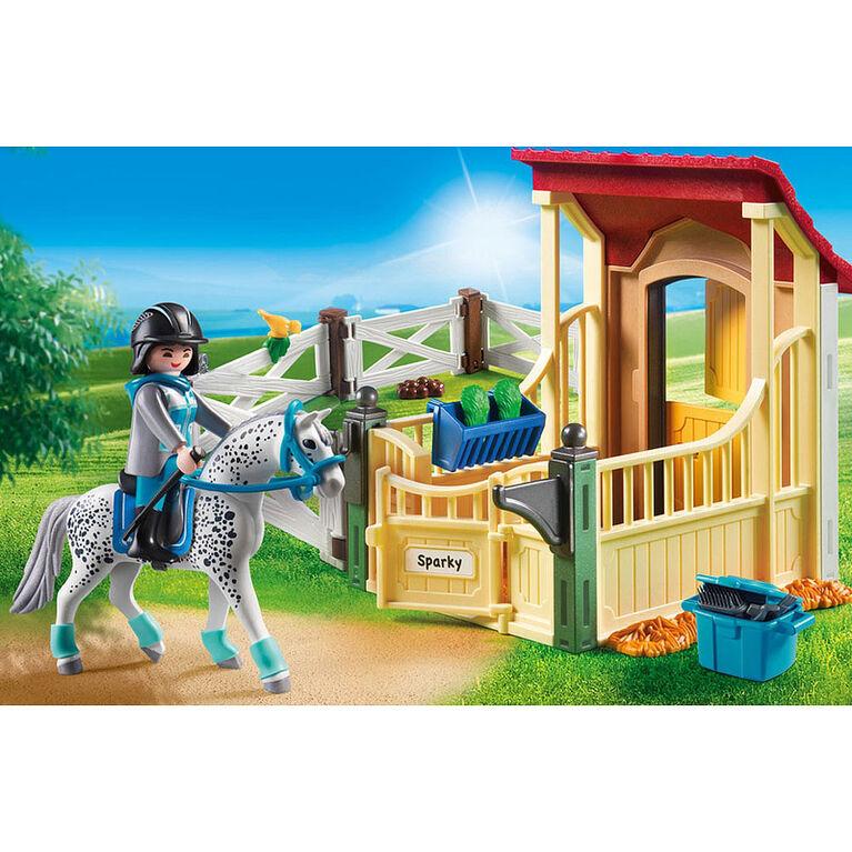 Playmobil - Box avec cavalière et cheval Appaloosa (6935)