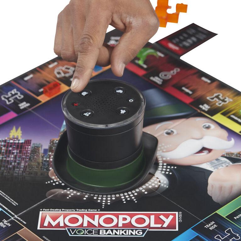 Jeu familial Monopoly Banque électronique à commandes vocales - Édition anglaise - les motifs peuvent varier