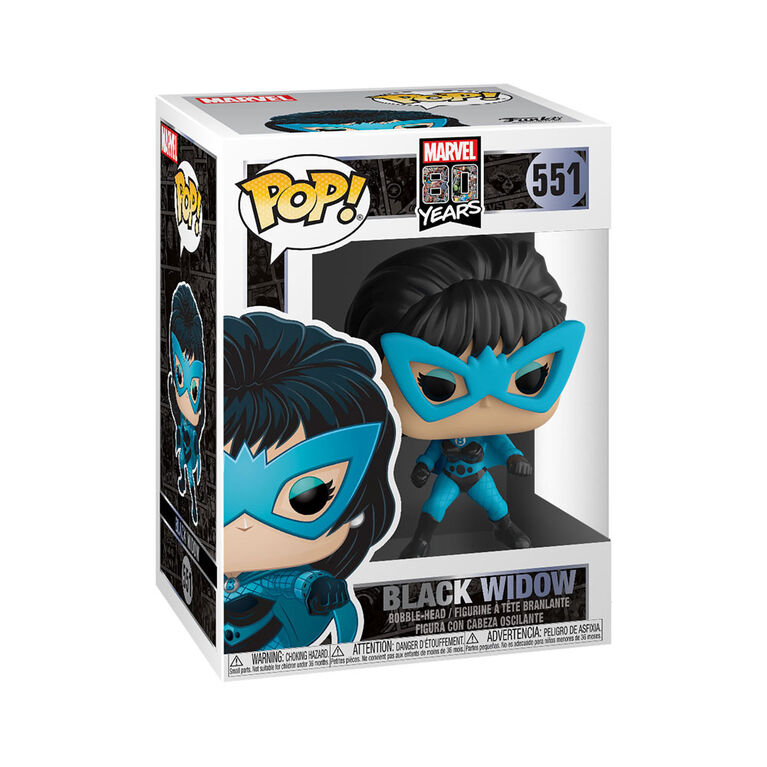 Figurine en Vinyle Black Widow Par Funko POP! Marvel: 80th - First Appearance
