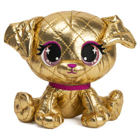 """GUND P.Lushes Designer Fashion Pets Limited-Edition Goldie La'Pooch Puppy Premium Stuffed Animal, Gold and Pink, 6"""""""