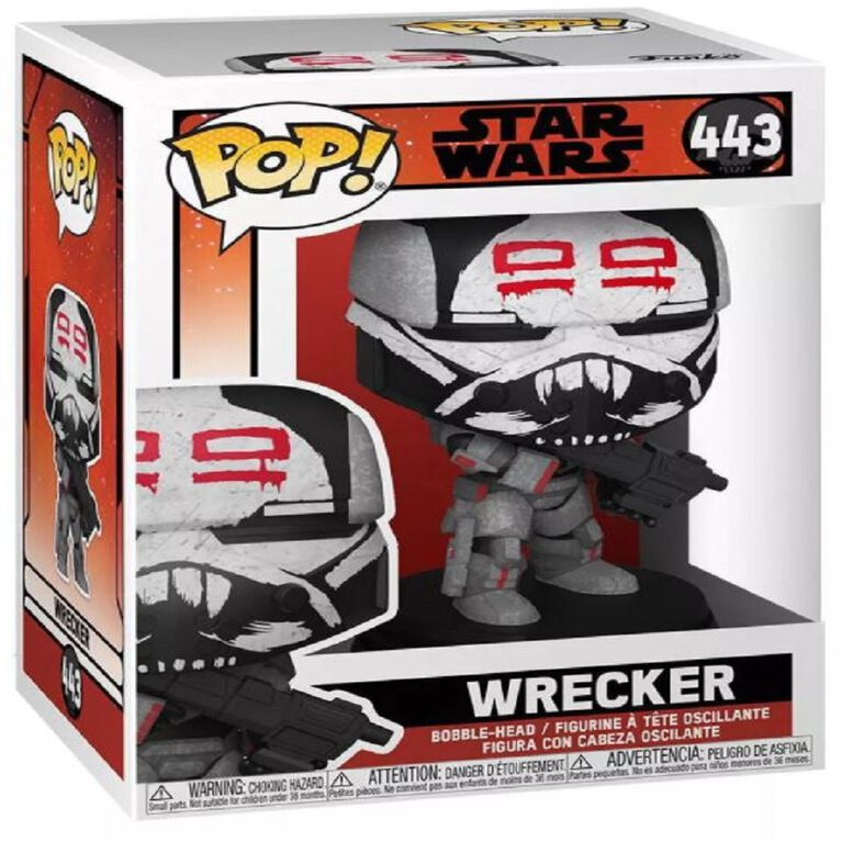 Figurine en Vinyle Wrecker par Funko POP! The Bad Batch Star Wars