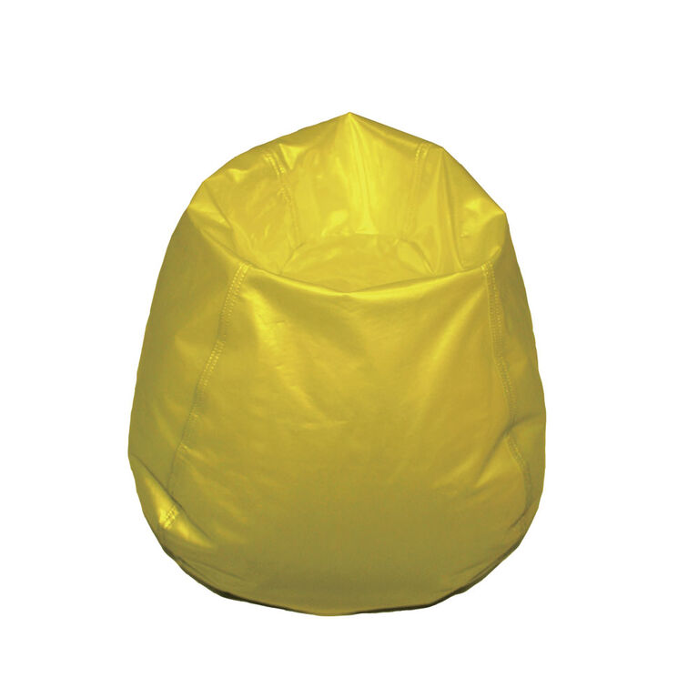 Boscoman - Fauteuil poire rond format jeunesse - jaune