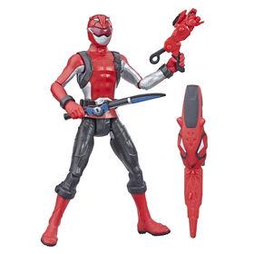 Power Rangers Beast Morphers - Figurine jouet de 15 cm Ranger rouge.